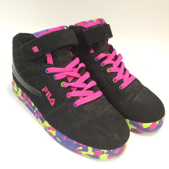 93732c6995890b Fila Other - Fila Youth 6 Sneakers Vulc 13 Mashup Black Rainbow